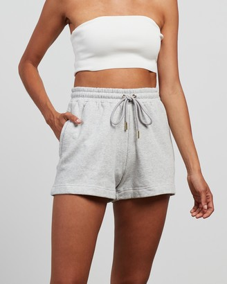 Rebecca Vallance Women's Grey Shorts - Logo Shorts - Size XS at The Iconic