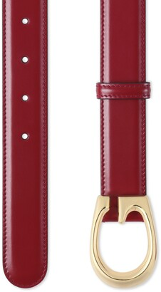 Gucci Thin belt with G buckle