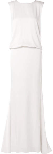 Rachel Zoe Ava Lace-trimmed Satin-crepe Gown - Ivory