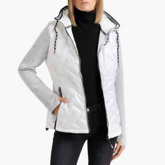 Superdry Storm Injected Luxe Hybrid Padded Jacket with Hood and Pockets