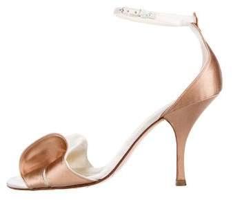 Chanel Satin Bow Sandals