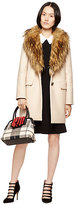 Kate Spade Faux fur collar coat