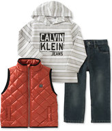 Calvin Klein Little Boys' 3-Pc. Vest, Hoodie & Pants Set