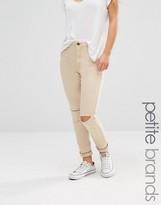 Boohoo Petite Ripped Knee Skinny Jeans
