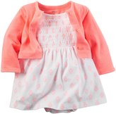 Carter's 2 Piece Dress Set (Baby) - Orange - 6 Months