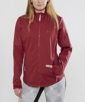 Craft Women's Windbreakers and Shell Jackets RHUBARB - Rhubarb Warm Train Windbreaker - Women