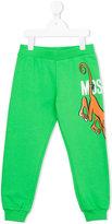 Moschino Kids monkey track pants