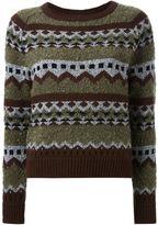 GUILD PRIME pattern intarsia sweater