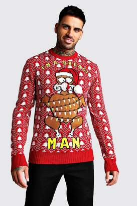 boohoo Im A Breast Man Christmas Jumper