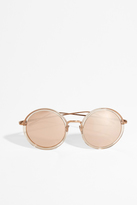 Linda Farrow Luxe Ash Rose Gold Round Sunglasses