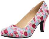 T.U.K. Women's Floral Mix Anti-pop Heel Dress Pump