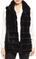 Jones New York Women's Reversible Faux Fur Vest