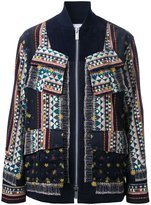 Sacai tribal lace jacket - men - Cotton - 2