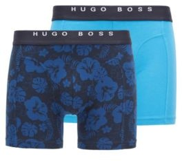HUGO BOSS Two Pack Of Boxer Briefs With Logo Waistbands - Light Blue