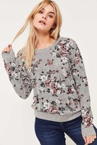 Ardene Floral Brushed Sweater with Lace Back