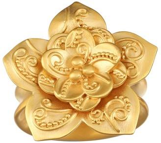 Satya Lotus Flower Paisley Adjustable Ring