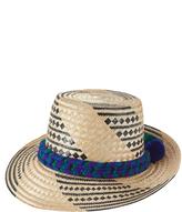 Yosuzi KaiKai pompom-embellished straw hat