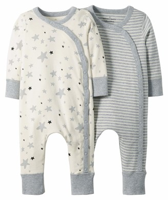 Moon and Back by Hanna Andersson Girls' Baby Organic 2 Pack Long Sleeve Romper