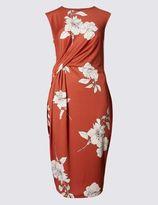 Marks and Spencer PETITE Floral Print Drape Shift Dress
