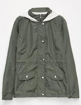 SKY AND SPARROW 2-Fer Nylon Girls Anorak Jacket