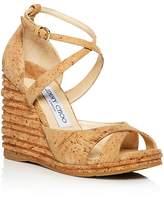 Jimmy Choo Women's Alanah 105 Cork Platform Wedge Sandals