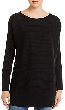 Eileen Fisher Petites Wool Boatneck Tunic Sweater