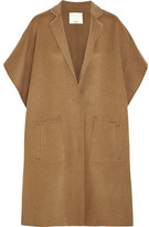 Tibi Wool-blend Felt Cape - Brown
