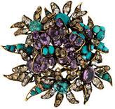 Iradj Moini Crystal Flower Brooch