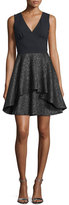 Nicole Miller Starlight Crisscross-Back Party Dress, Black