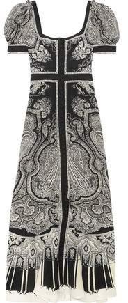 Alexander McQueen Paisley-Print Silk Crepe De Chine Midi Dress
