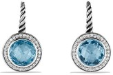 David Yurman Color Classics Drop Earrings with Blue Topaz and Diamonds