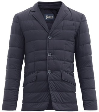 Herno La Giacca Quilted-down Jacket - Mens - Navy