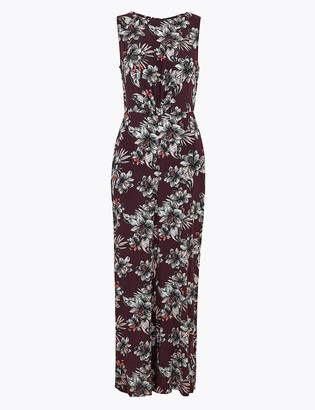 Marks and Spencer Floral Open Back Waisted Jumpsuit