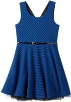 Knitworks Girls Plus Size Cross-Back Sleeveless Skater Dress