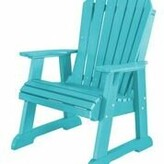 Adirondack Patricia Plastic Chair with Table Rosecliff Heights Color: Aruba