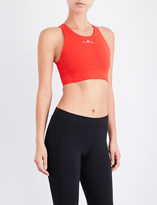 adidas by Stella McCartney Ladies Core Red Printed Soft-Cup Sports Bra