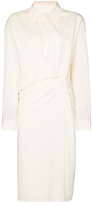 Lemaire Twist Wrap Front Shirt Dress