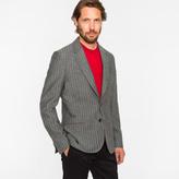 Paul Smith Men's Tailored-Fit Two-Tone Grey Herringbone Wool Blazer