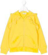 MonnaLisa ruffle detail hoodie