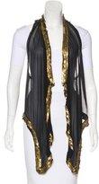 Diane von Furstenberg Embellished Longline Vest