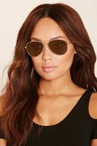 Forever 21 FOREVER 21+ Metal Aviator Sunglasses
