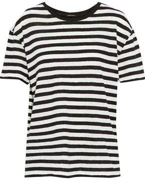 R 13 Striped Slub Cotton-Jersey T-Shirt