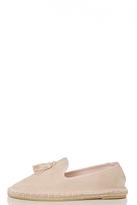 Quiz Blush Pink Tassel Detail Espadrille Pumps