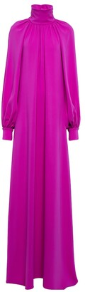 Silk-blend georgette gown