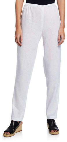0d1ced8455 Plus Size White Linen Pants - ShopStyle