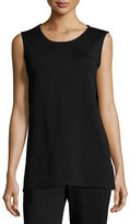 Caroline Rose Long Knit Wool Tank, Petite
