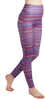 Red & Purple Geometric-Stripe Leggings