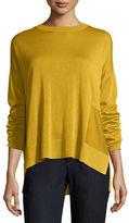 Eileen Fisher Sleek Tencel®/Wool Box Top w/ Patch Pocket, Petite