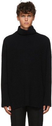Ann Demeulemeester Black Knitted Turtleneck