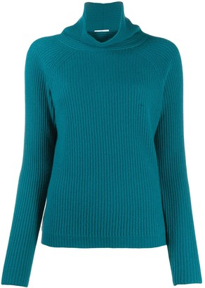 Allude Turtle Neck Ribbed Cashmere Jumper